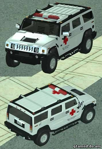 AMG H2 HUMMER - RED CROSS (ambulance)